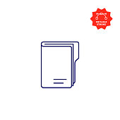 istock Folder Line Icon with Editable Stroke and Pixel Perfect. 1195259246