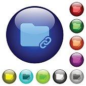 Folder link color glass buttons