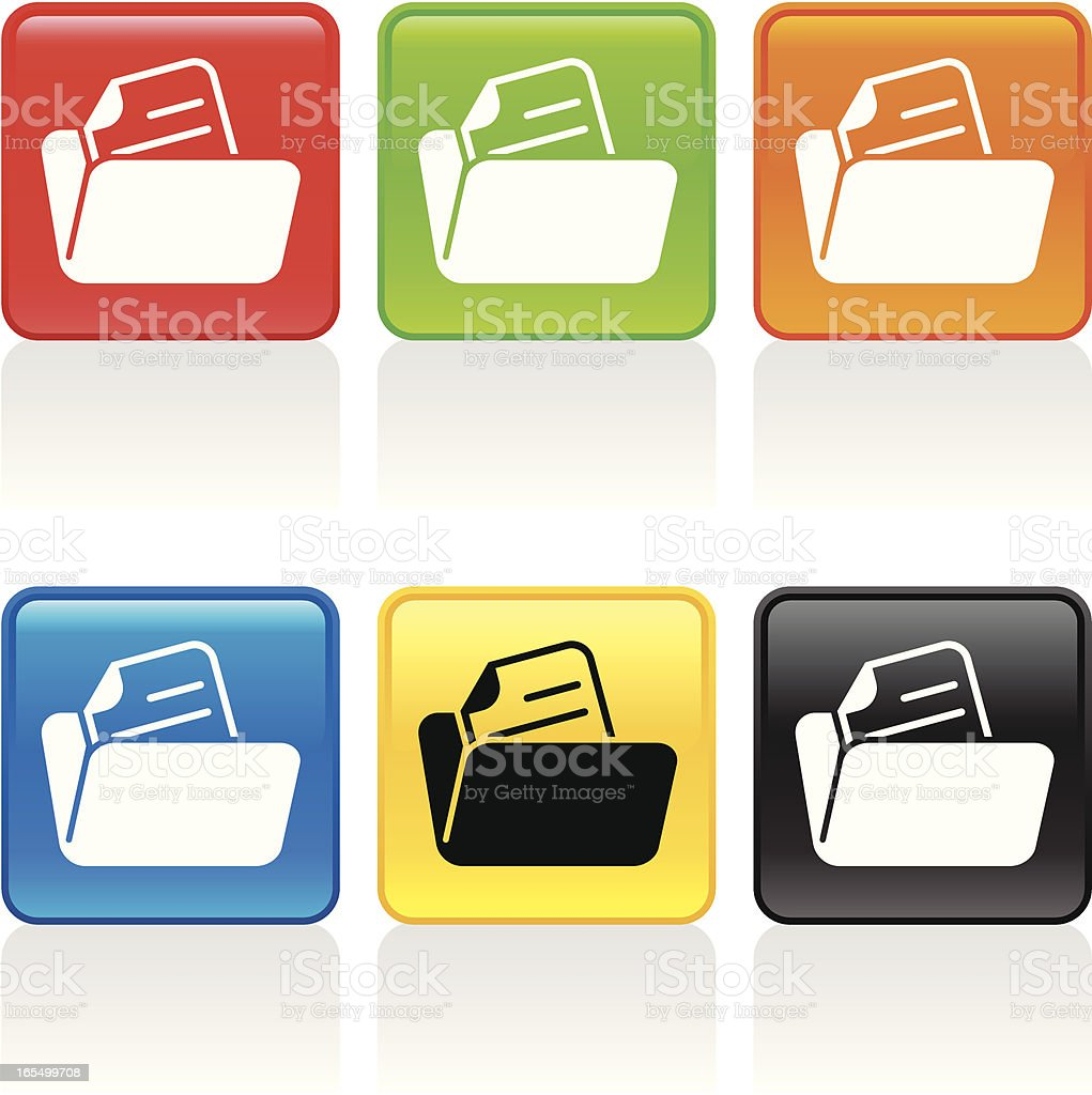 Folder Open Icon royalty-free folder open icon stock vector art & more images of archives