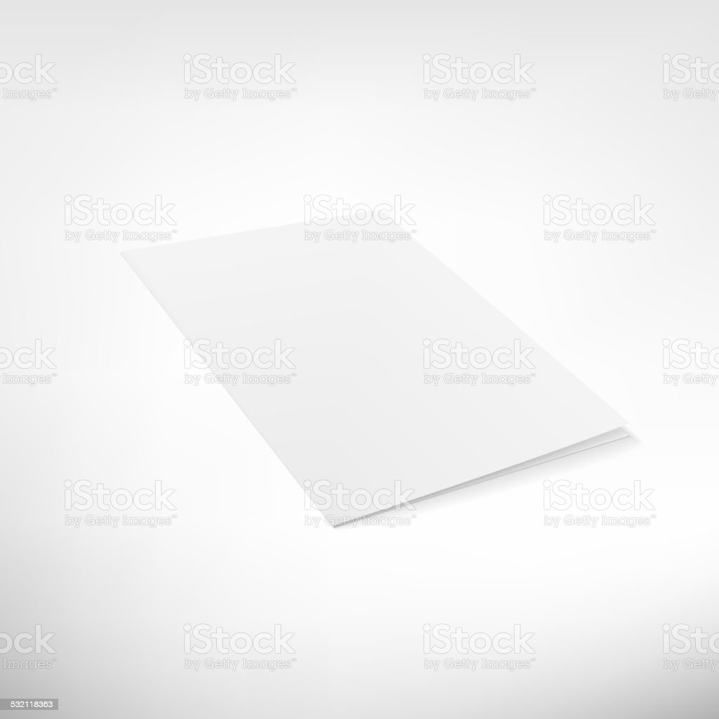 Folder page on white background. vector art illustration