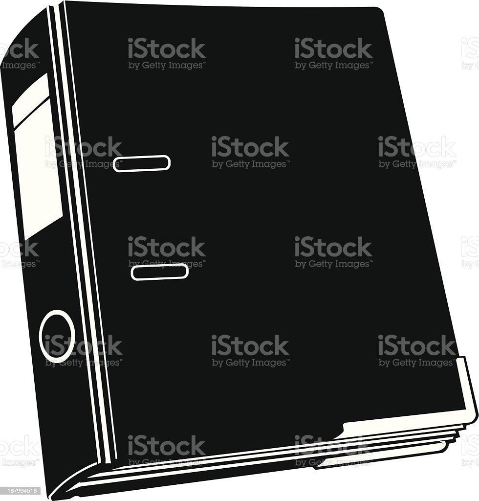 Folder Silhouette Icon royalty-free stock vector art