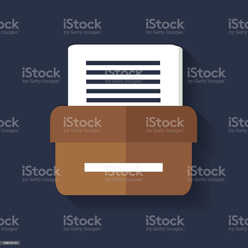 Folder symbol,clean vector vector art illustration