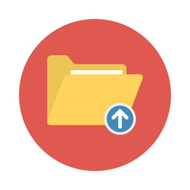 illustrations, cliparts, dessins animés et icônes de répertoire de téléchargement de dossier - infographie processus