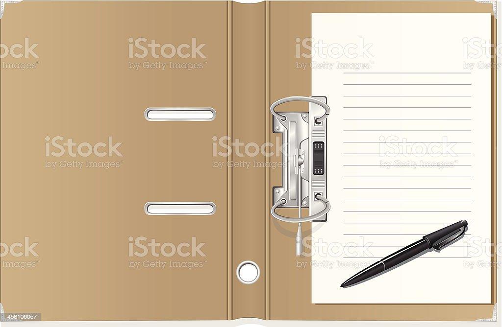 folder vector art illustration
