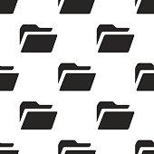 folder, vector seamless pattern
