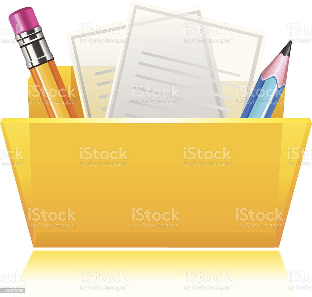 Folder with documents royalty-free stock vector art