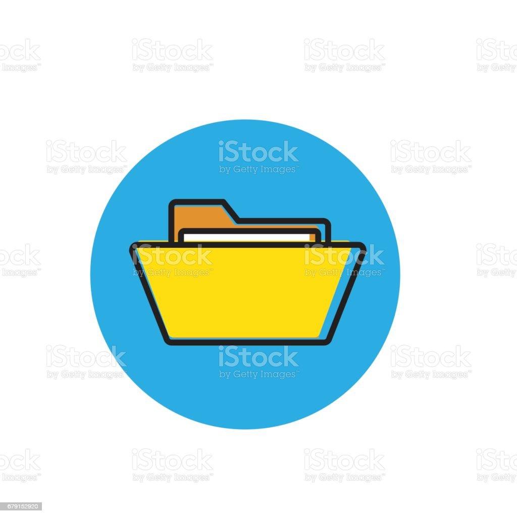 dossier avec des papiers. Icône de document. dossier avec des papiers icône de document – cliparts vectoriels et plus d'images de affaires libre de droits