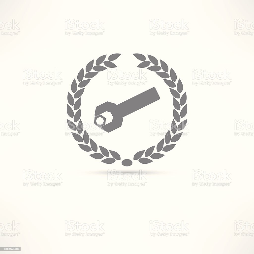 folder wrench icon royalty-free stock vector art