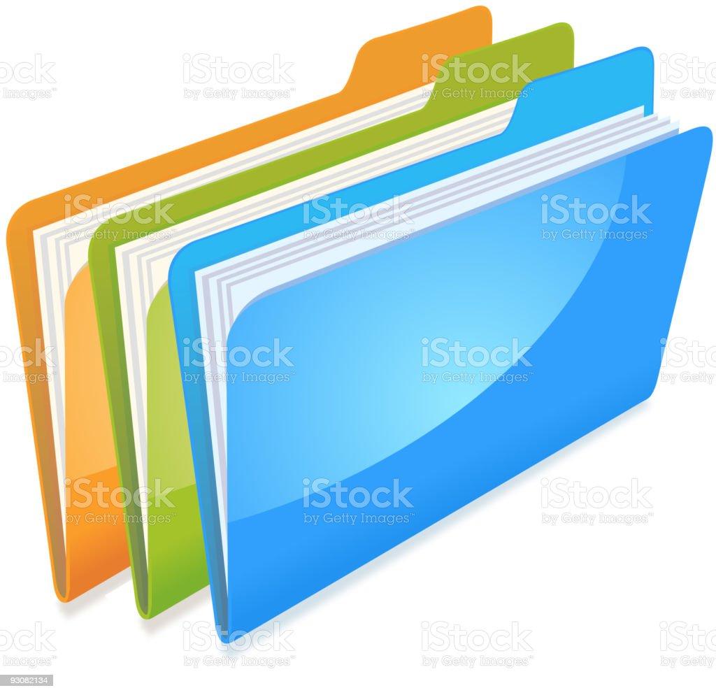 folders royalty-free stock vector art