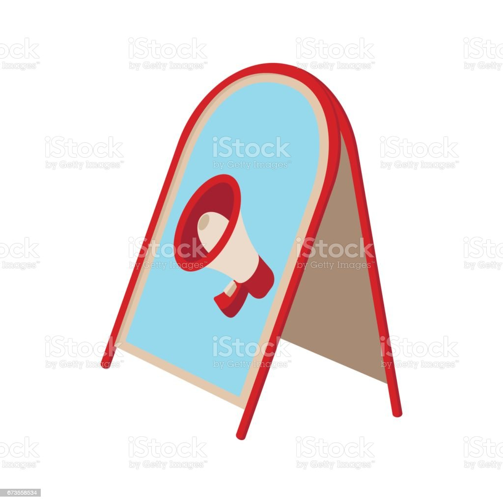Folding advertising stand icon royalty-free folding advertising stand icon stock vector art & more images of announcement message