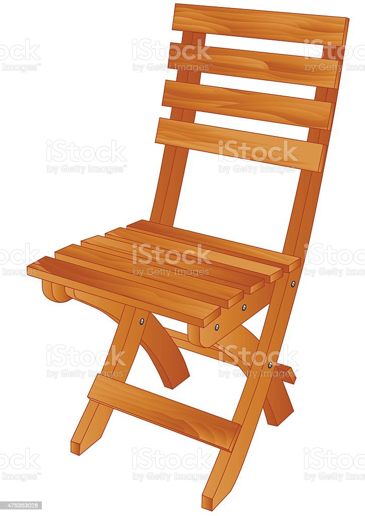 folding chair vector art illustration