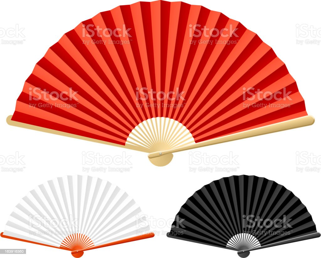 Folding fan vector art illustration