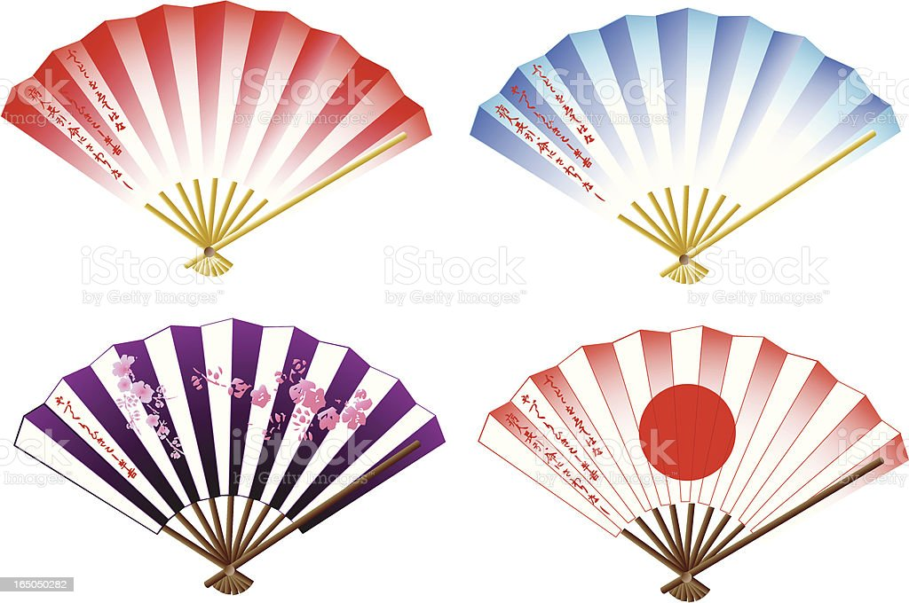 folding fans royalty-free folding fans stock vector art & more images of art and craft