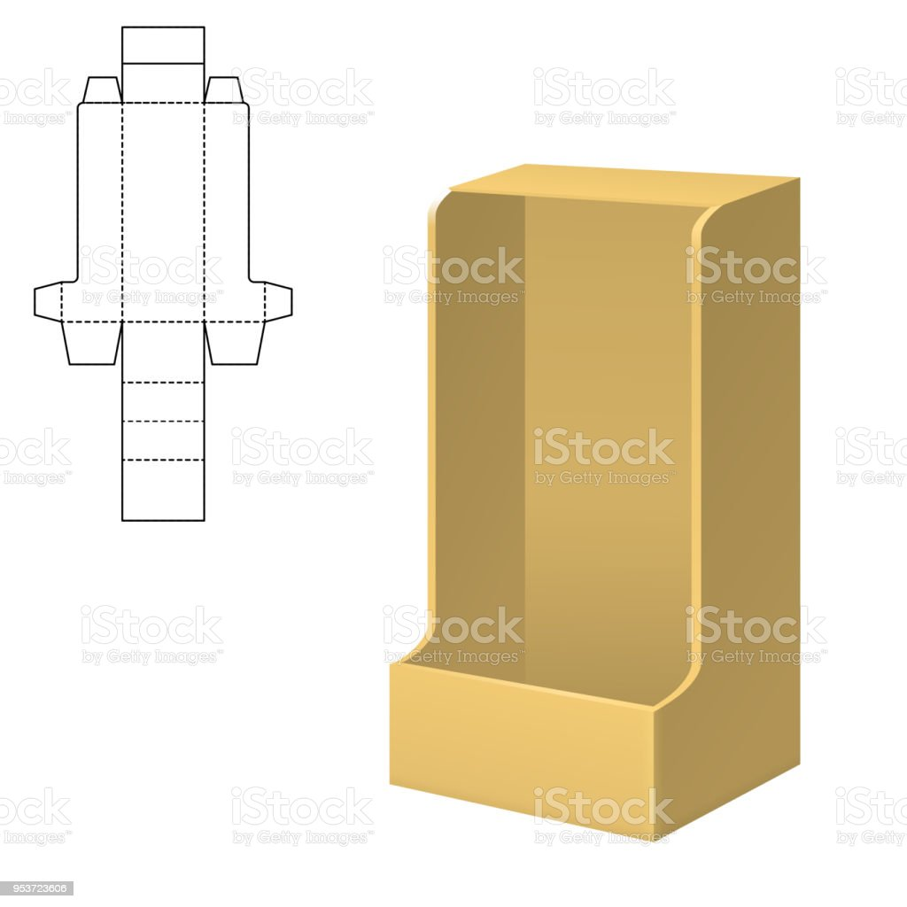 Folding Package Template Royalty Free Stock Vector Art Amp More Images