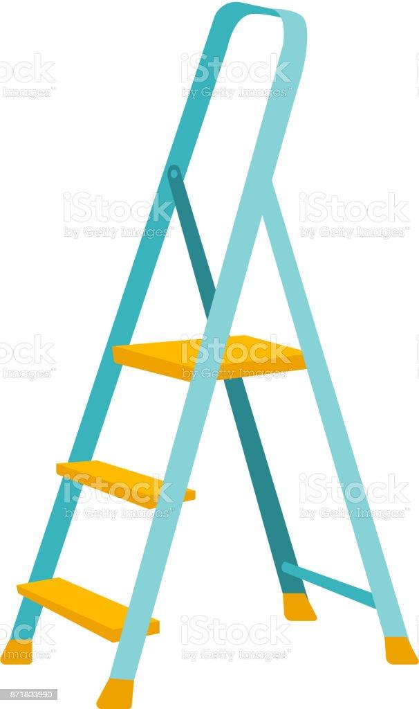 Folding Step Ladder Vector Cartoon Illustration Stock