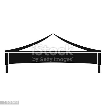 Folding tent icon. Simple illustration of folding tent vector icon for web design isolated on white background