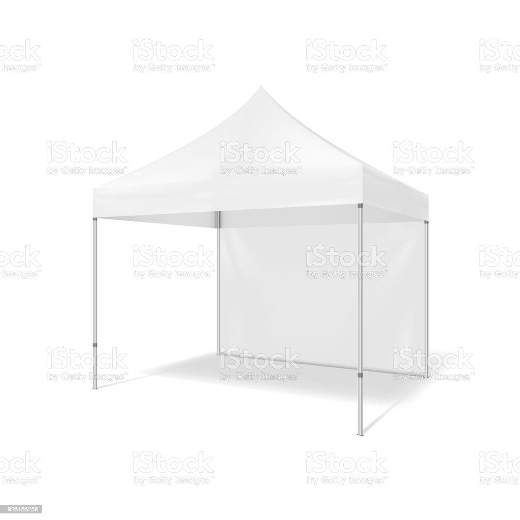 Folding tent. Illustration isolated on white background vector art illustration