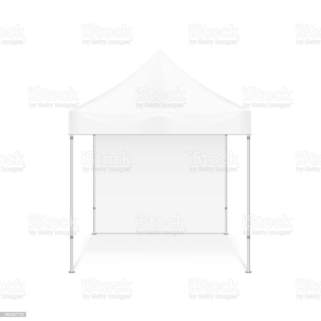 Folding tent. Illustration isolated on white background folding tent illustration isolated on white background - stockowe grafiki wektorowe i więcej obrazów architektura royalty-free
