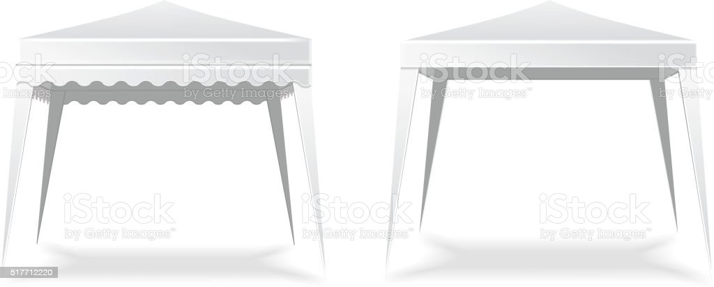 Folding white blank   tent or canopy.  Vector illustration vector art illustration