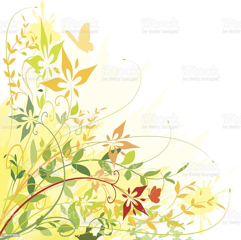 Foliage Corner royalty-free stock vector art