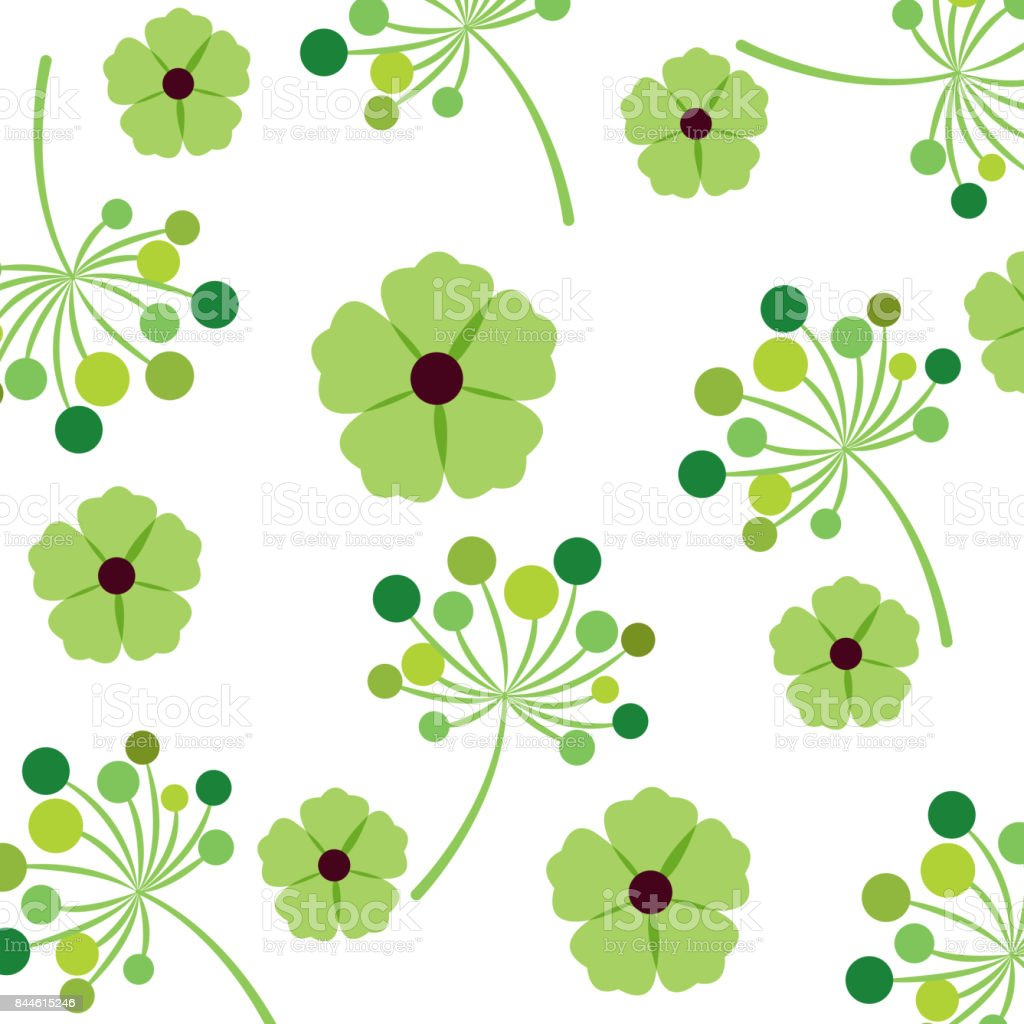 Foliage Of Beautiful Flowers Design Stock Vector Art More Images