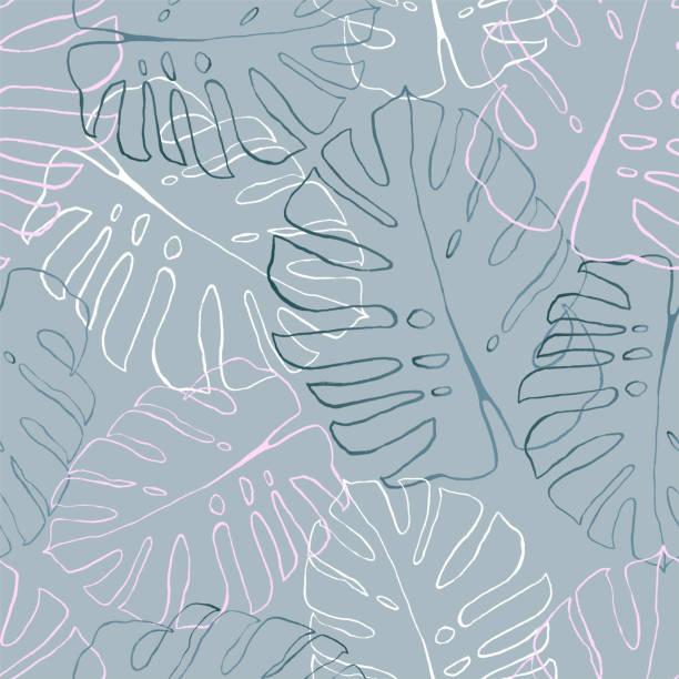 葉子無縫圖案 - 葉狀花紋 幅插畫檔、美工圖案、卡通及圖標