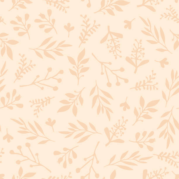 Foliage seamless vector background. Beige leaves background. Limited color palette. Abstract nature leaf pattern. Autumn fall Doodle leaf print. Thanksgiving, Seasonal fabric, November, card, paper Foliage seamless vector background. Beige leaves background. Limited color palette. Abstract nature leaf pattern. Autumn fall Doodle leaf print. Thanksgiving, Seasonal fabric, November, card, paper autumn patterns stock illustrations