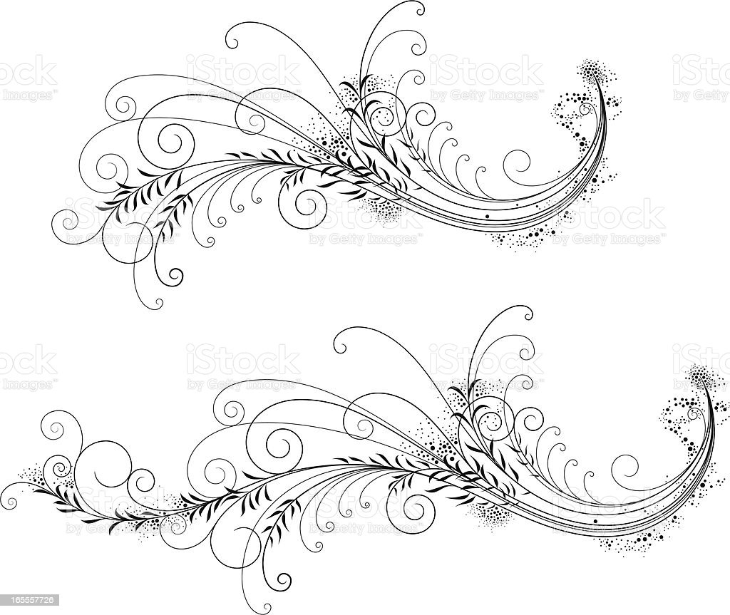 Foliate Filigree royalty-free stock vector art