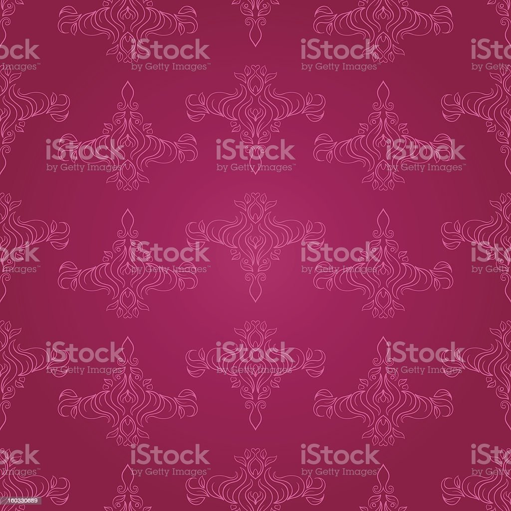 foliate pink pattern royalty-free foliate pink pattern stock vector art & more images of abstract