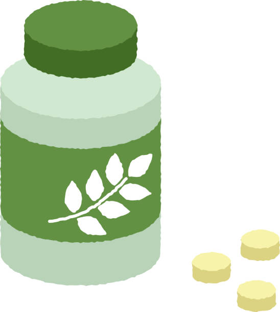 Folic acid supplement vector art illustration