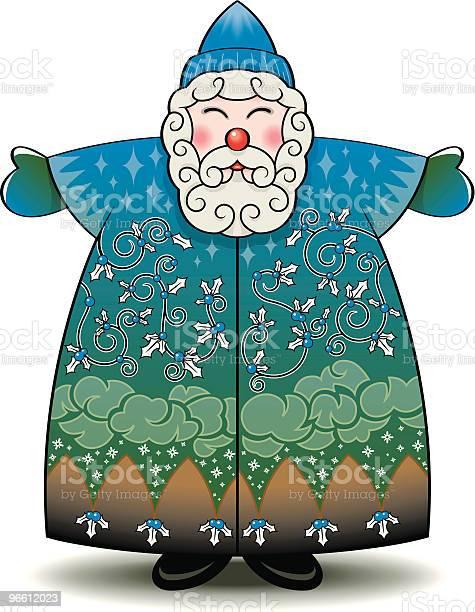 Folk Arte Pai Natal - Arte vetorial de stock e mais imagens de Adulto