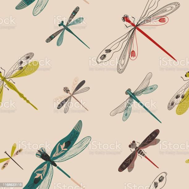 Folk art seamless pattern with dragonflies vector id1168633115?b=1&k=6&m=1168633115&s=612x612&h=hhx6nodjck m2oyamktasemdkezal2bwt72hirjp ae=