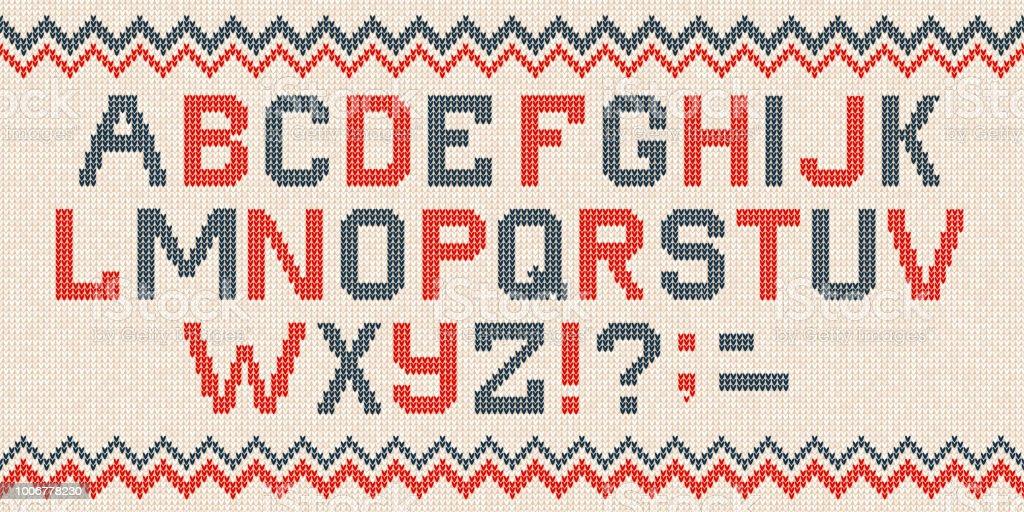 Ilustración de Fuentes De Navidad Folk Escandinavo Estilo Punto ...