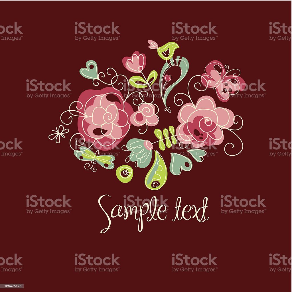 folk floral royalty-free stock vector art