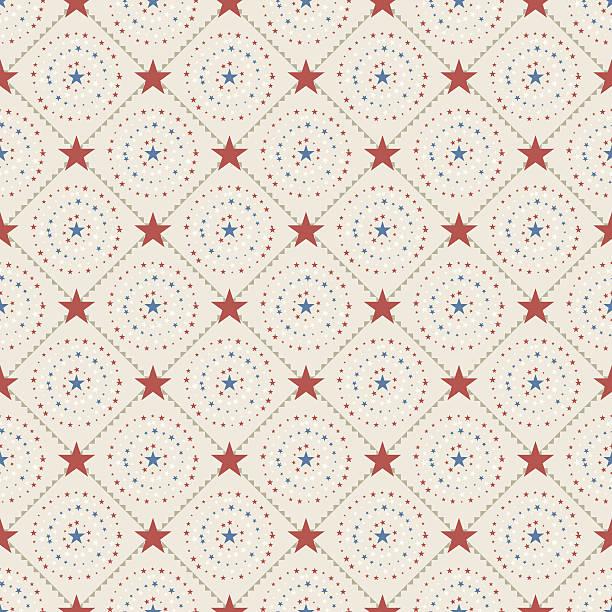 Folk Patriotic (Seamless) vector art illustration