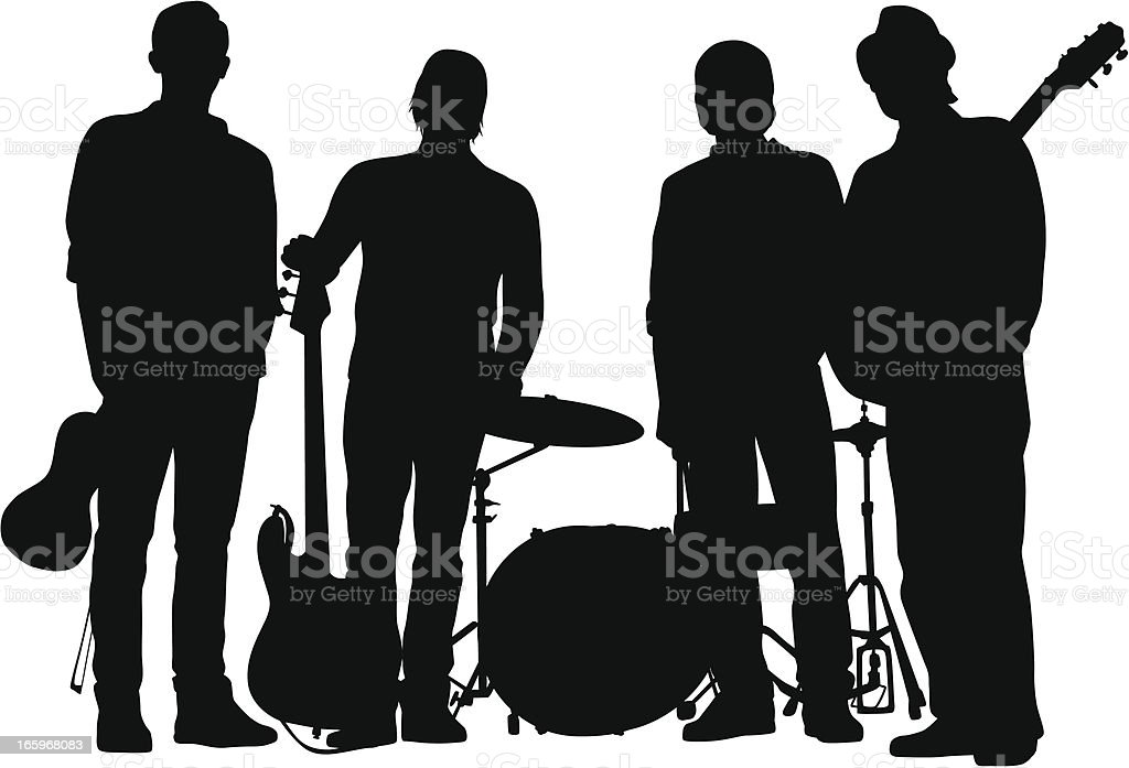 Folk Rock royalty-free stock vector art