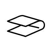 folk sheet icon vector. folk sheet sign. isolated contour symbol illustration