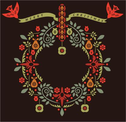 Folklore Christmas Wreath