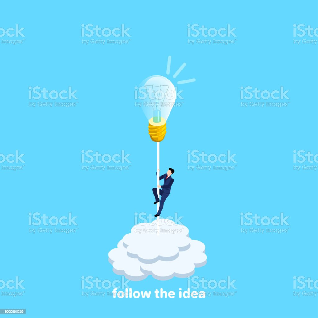 follow the idea 2 - Grafika wektorowa royalty-free (Aspiracje)