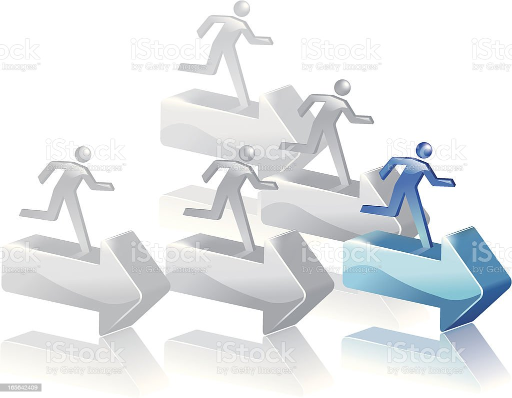 Follow the leader royalty-free stock vector art