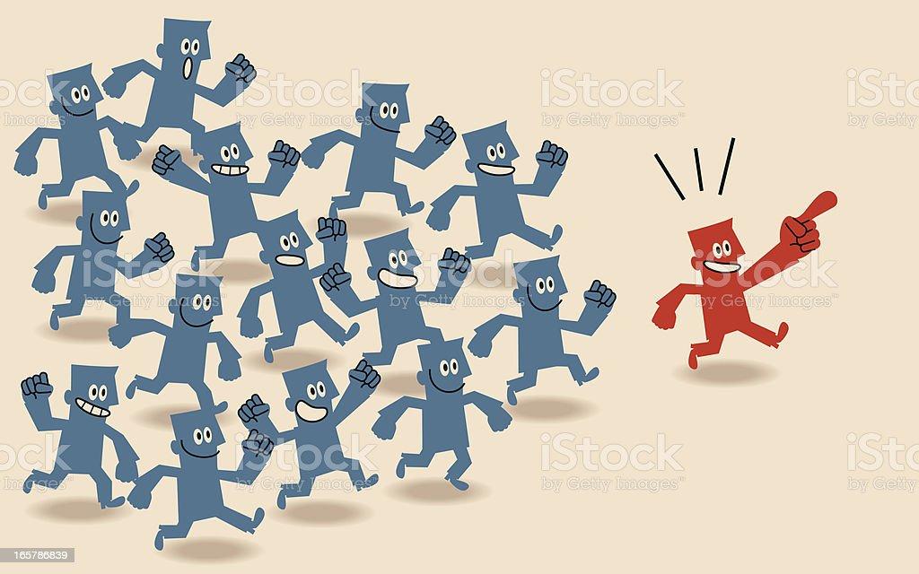 Follow the Leader royalty-free stock vector art
