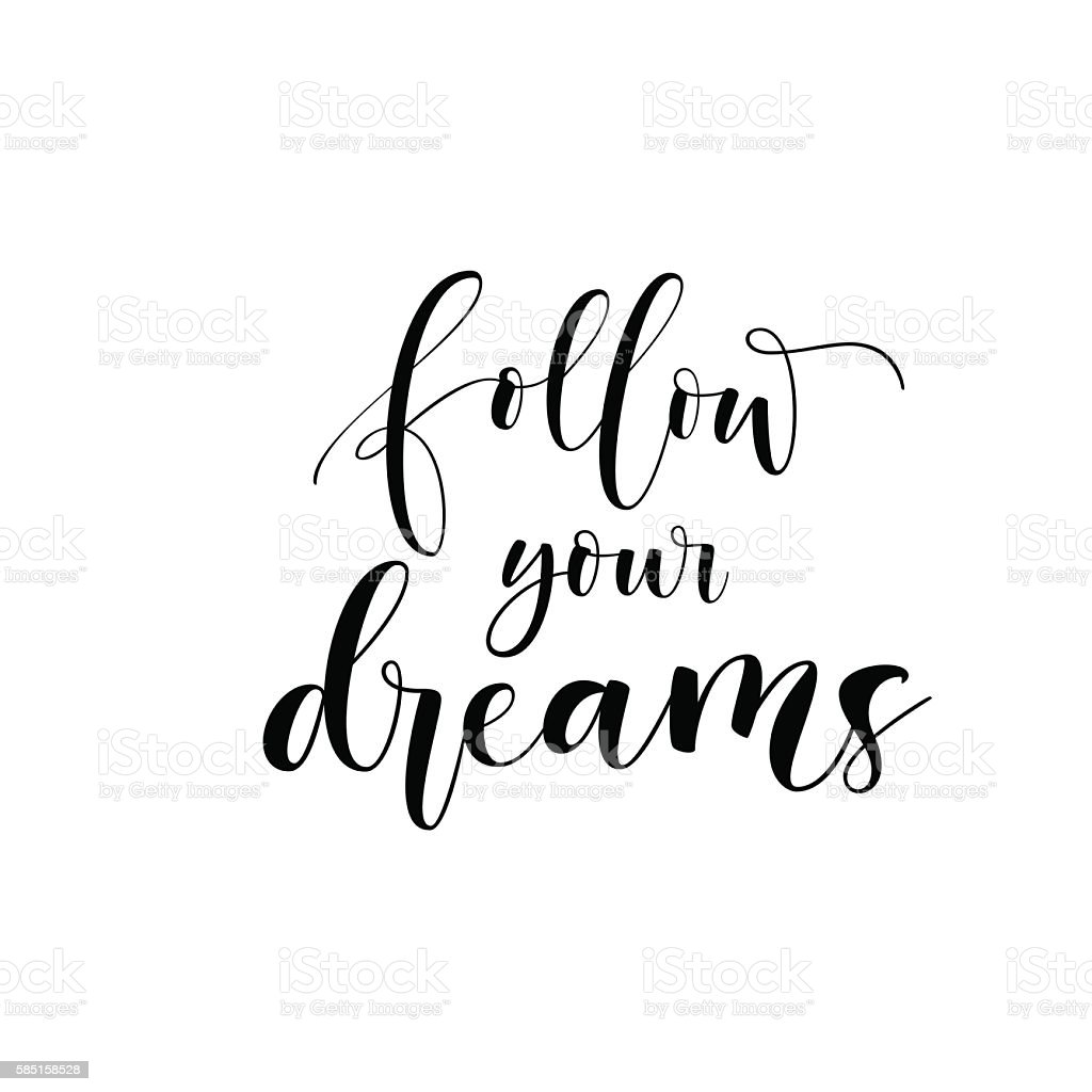 Follow Your Dreams Card Stock Illustration - Download ...