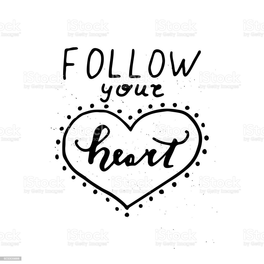Follow Your Heart Card Stock Vector Art More Images Of Abstract