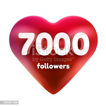 istock Followers thank you. Red heart for Social Network friends, followers, Web user Thank you celebrate of subscribers or followers and likes. 1282657596