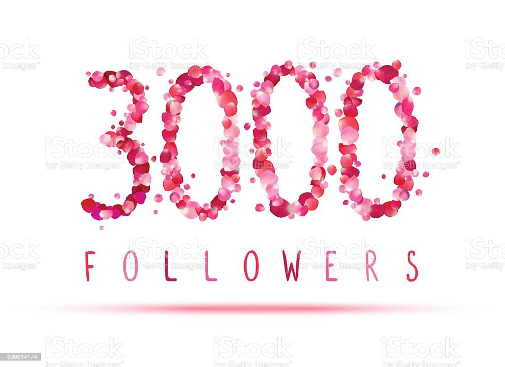 Download 3000 Followers Stock Illustration - Download Image Now ...