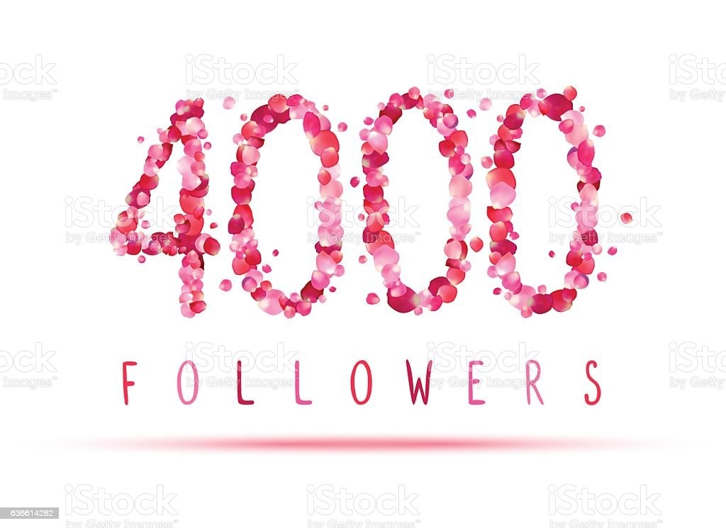 royalty free 4000 four thousand followers clip art vector images