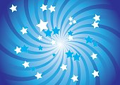 Fondo azul con estrellas