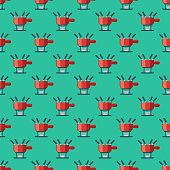 istock Fondue Pot Switzerland Seamless Pattern 1048466996