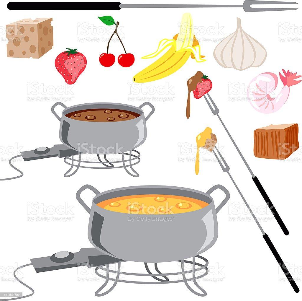 Fondue Set Icons royalty-free fondue set icons stock vector art & more images of banana