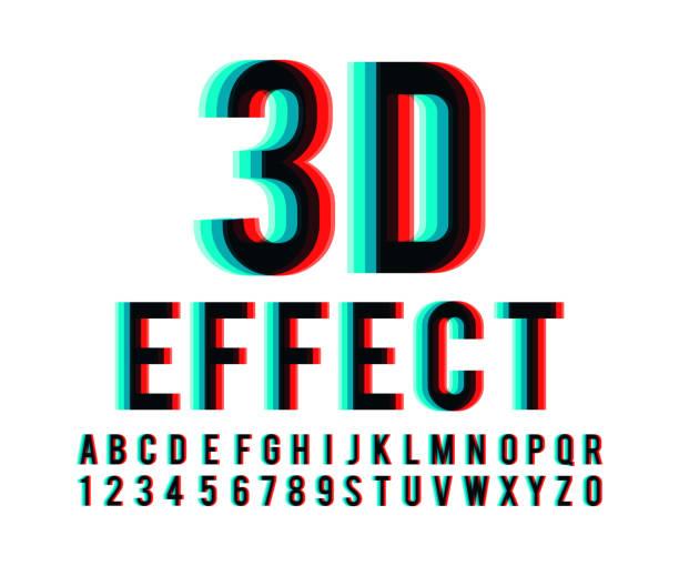 Schrift 3d Effekt Vektor – Vektorgrafik